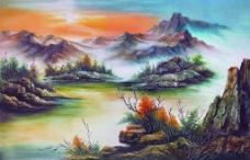 客厅装饰背景油画