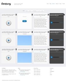 带音频播放HTML5模板