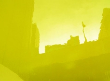 黄绿色背景ppt模板