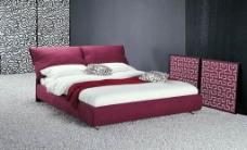 休闲软床背景图片