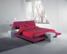 休闲软床背景
