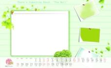 清新2012年台历模板11月图片
