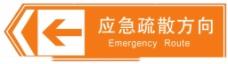 应急疏散方向指示牌图片