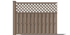 木制栅格栅栏图片