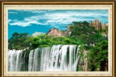 自然山水畫圖片