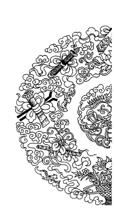 中国风psd边框花纹
