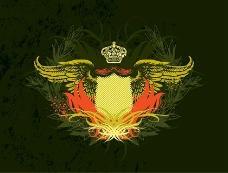 皇冠盾牌的翅膀