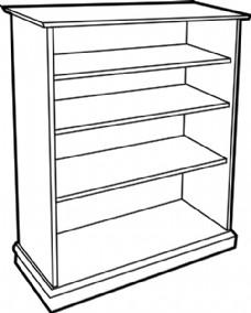 木书柜剪贴画