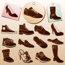 时尚潮鞋矢量素材
