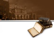 欧洲古典风格书本教育PPT模板