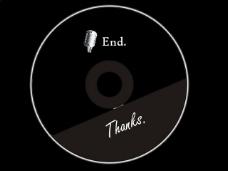 黑色光盘PPT