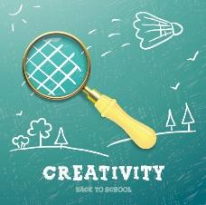 创新学校的设计背景矢量04