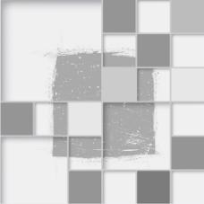 三维方摘要背景矢量素材01