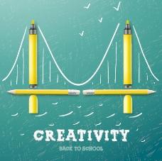 创新学校的设计背景矢量03