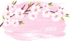美丽的樱花背景矢量图形03
