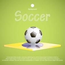 绿色风格的足球背景矢量素材04