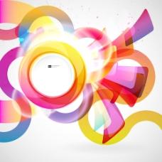 鲜艳的圆形背景05