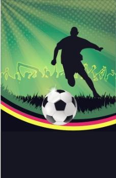 足球之夜海报背景矢量