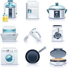 厨房电器矢量