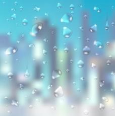 模糊背景艺术05晶体的水滴