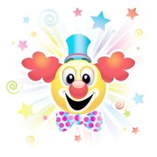 马戏团小丑的海报的背景矢量