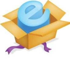 在一个盒子矢量Internet Explorer