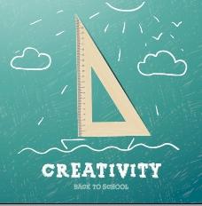 创新学校的设计背景矢量02