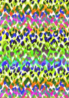 豹纹彩色印花