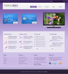 紫色幻彩CSS网页模板