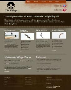 乡村部落CSS网页模板