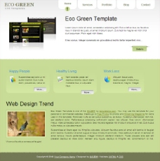 生态绿色CSS网页模板