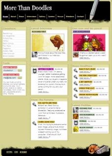 国外个性涂鸦CSS网页模板