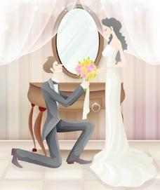 甜蜜的婚礼集80矢量
