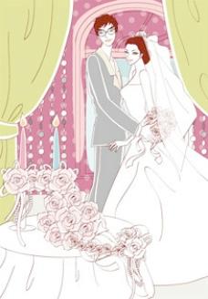甜蜜的婚礼集84矢量