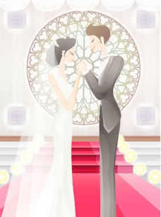 甜蜜的婚礼集82矢量