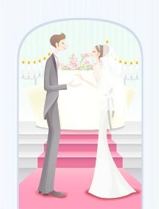 甜蜜的婚礼集74矢量