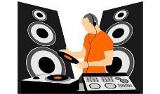 DJ,DJ音乐设备矢量素材