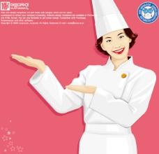 女厨师矢量素材