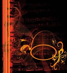 华丽的古典音乐背景01矢量