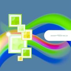 彩色相片框架和背景
