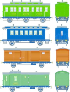 列车的设计元素矢量图03