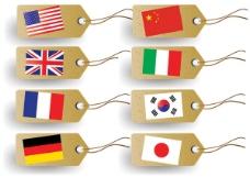 FLAG标签矢量素材