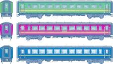 列车的设计元素矢量图02