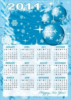 2011日历模板矢量