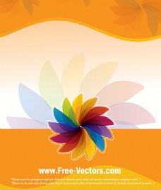 花的彩色矢量背景