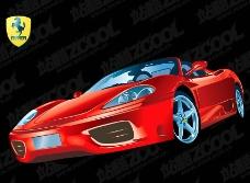 法拉利F360跑车矢量素材
