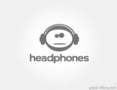矢量耳机标志