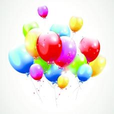 贺卡矢量07生日快乐的气球
