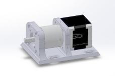 对于一个NEMA 17步进电机和一个行星齿轮变速箱连接99,55水平固定的…(Phidgets微型3319)