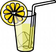 柠檬水玻璃夹艺术